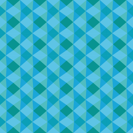 Blue geometric seamless texture. The illusion of volume, triangle, rhombus. Pattern of the fabric.