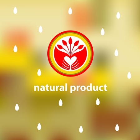environmentally: Emblem of natural, environmentally friendly product.Plant to plant, harvest