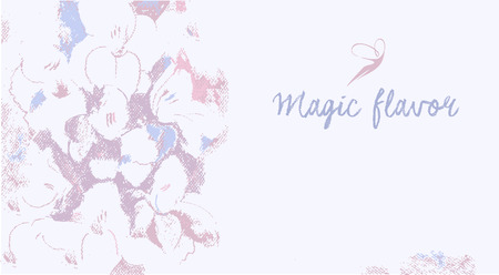 Vector background with the image of flowers in pastels. Magical flavor. Place for text. Pastel colors, gentle, romantic. Vector