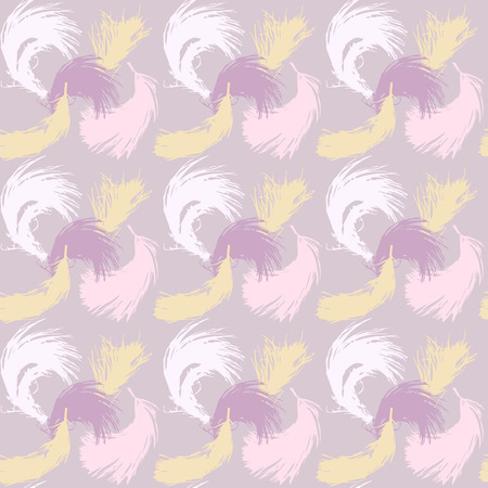 fluff: Seamless pattern with the image of feathers fluff. Illustration
