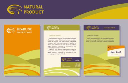 Sets of proprietary business element, Brochure Flyer design vector template