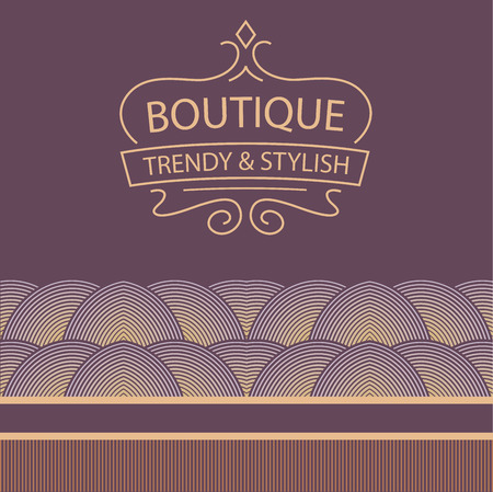 Vector for boutique clothing, accessories, jewelry and ornaments. decorative ribbon.