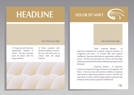 image size: Brochure Flyer design vector template in A4 size. Layout for catalogs, brochures. Pattern for agricultural products. Place for your text and image
