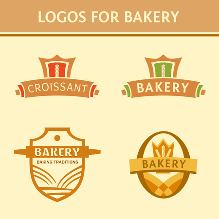 Set of badges for the bakery Vector