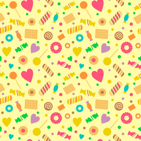 confectionery: Seamless pattern with art stylized sweets, confectionery.