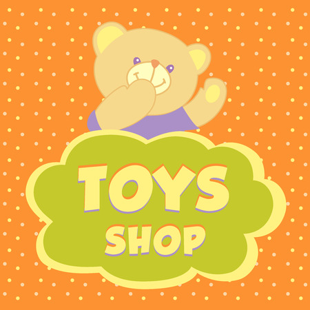 Template signs, advertising banner for the store toys