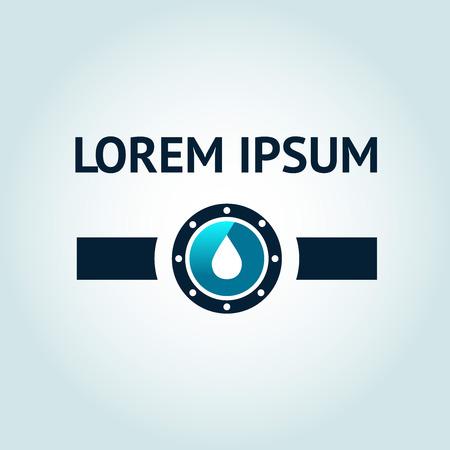 Icône représentant l'eau modèle tombe dans la ligne de conduite.