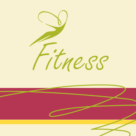 youthful: Vector template icon for a sports hall, fitness. The figure of a woman. Illustration