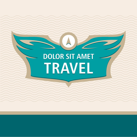 professionalism: icon template for travel agency, air carrier. Demontstration of reliability, professionalism.