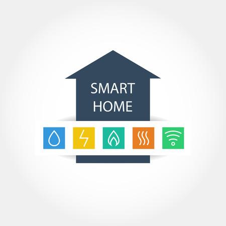 Modèle d'un logo de vecteur de la puissance maison efficace. Gestion des ressources énergétiques. augmentation de l'efficacité énergétique.