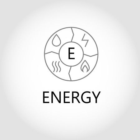 energy management: Template vector logo for energy companies, energy management and consumer resources. Illustration