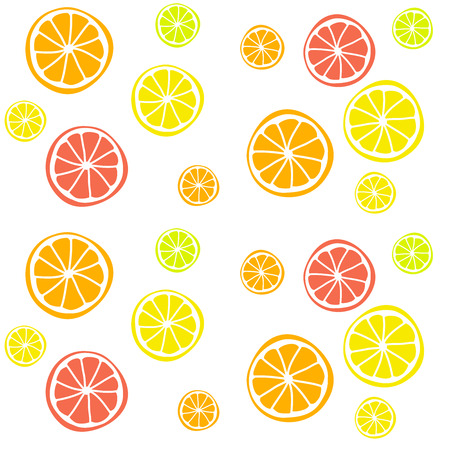 citrus fruits: Seamless vector background with citrus fruits. Lime and lemon. Hand-drawn