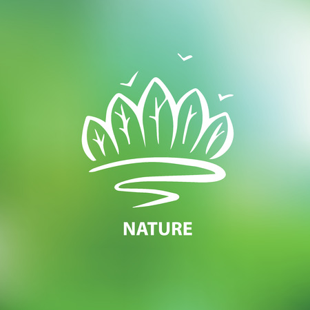 Logo with the image of trees and forests. Environment, nature. The Nature Conservancy.