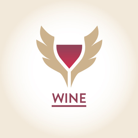 red wine: Vector logo, label. Red wine. High quality.