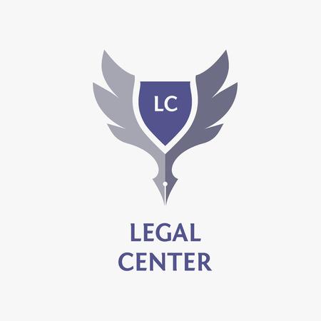 abogado: Vector de la insignia del modelo para la organización legal, notario. Vectores