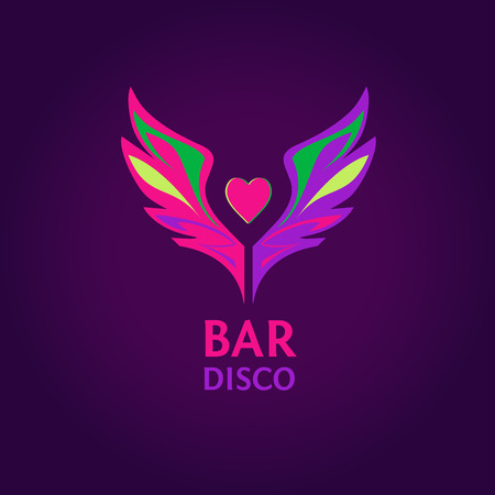 dancing club: Vector logo. Night club, disco, beach party, bar, show. Illustration