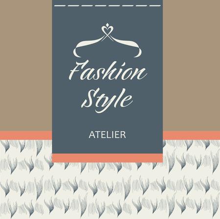 gronostaj: Szablon logo firmy. Szycie tkanin, futra i skóry. Odzież, akcesoria.
