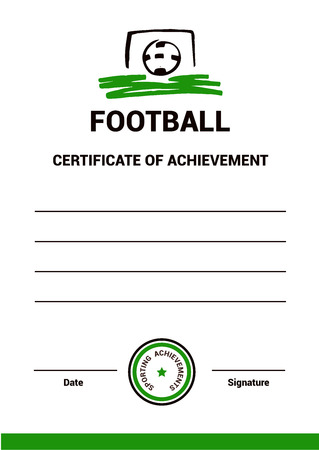 Vector template certificate diploma tennis simple modern vector certificate template diploma football simple modern design the emblem of yelopaper Gallery