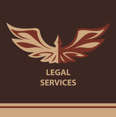 law symbol: Template for legal, notary organization