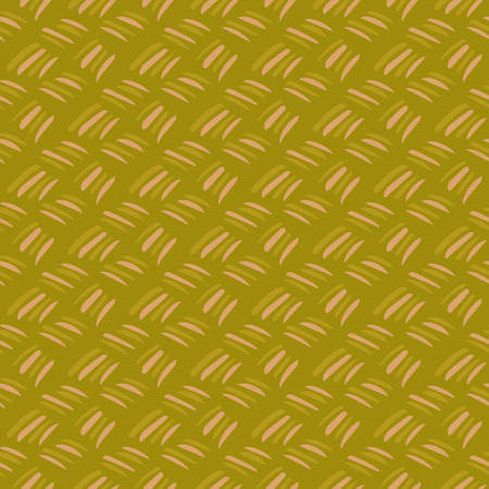 strokes: Seamless ornament with brush strokes. Green background, imitation of weaving.