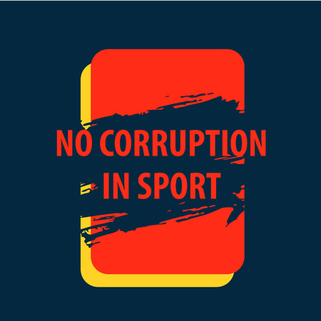 There is corruption in the sport, of bribery. The text on a background of red and yellow cards. Honesty in the game and the sport.