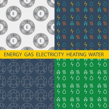 energy management: Set pattern  for energy companies, energy management and audit. Background for catalog covers, posters, documentation.