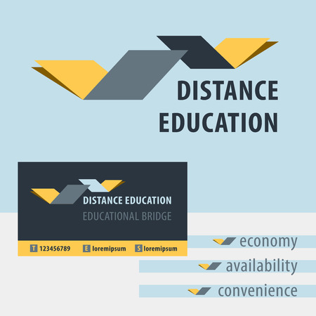 drawbridge: Distance education, the study of the logo. Educational Bridge. Identification of educational services. The concept of a drawbridge, a book, a compound for the purpose of distance learning.
