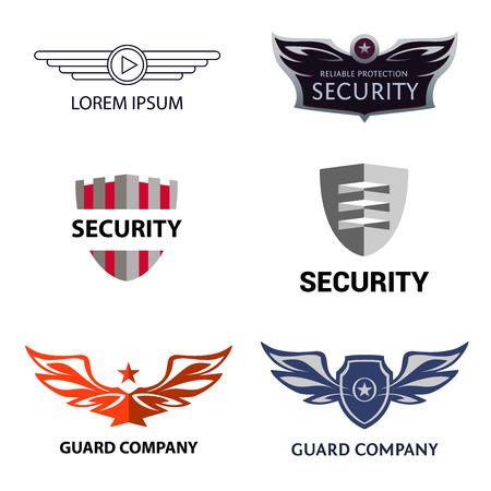 empresas: logotipo de la plantilla para la organización de seguridad, compañía de guardias.