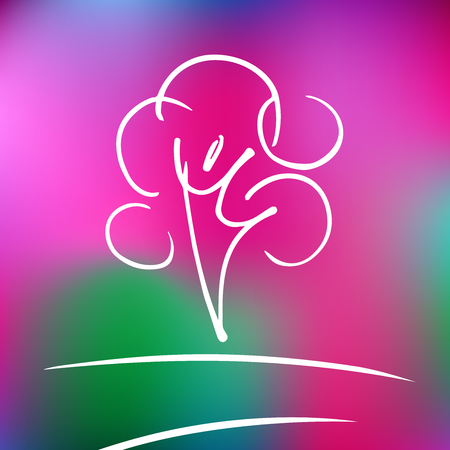 nature vector: Vector logo rose nature tree and harmony. The label for the means to care for face and body.