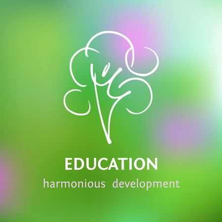 Logo of personal development and harmony. The emblem of the educational center, psychological assistance. Illustration