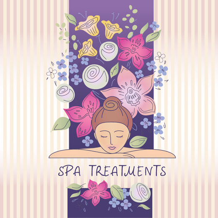 Vector element design, se logos for beauty salon, cosmetic boutique. Relaxation. Beauty and health. Background image for a spa, salon.