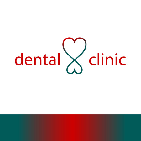 oral health: Logo template for dentist clinic. Health, medical or doctor and dentist office symbols. Oral care, dental, dentist office.
