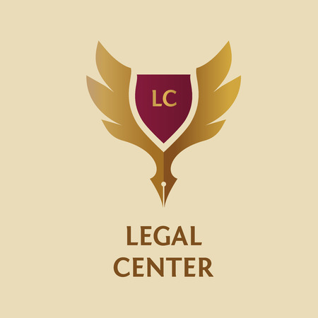 notaris: Template vector logo for legal, notary organization.