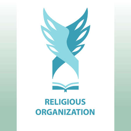 christian faith: religious organization of society. Dome of the temple, wings. Holy Writ.