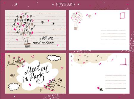 postcard: Valentine Day love postcard.