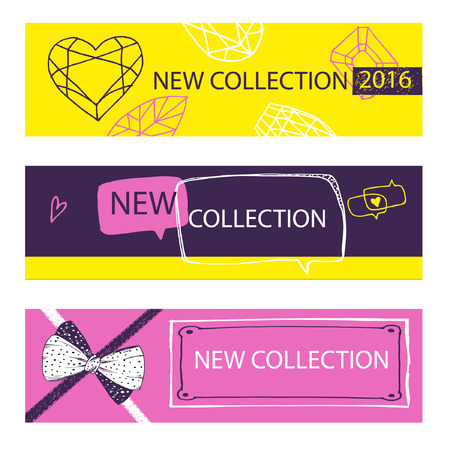 New collection. Web Banner, Header Layout Template for shop.
