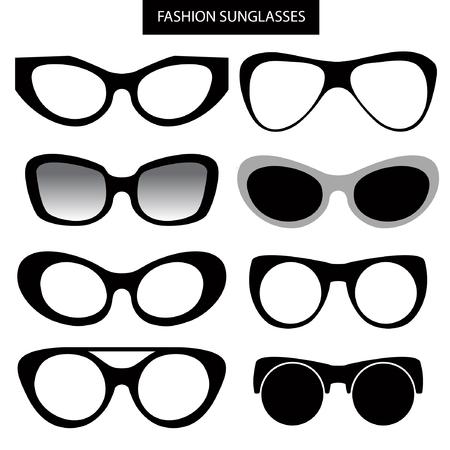 corrective lenses: A set of fashion sunglasses and frames. Cat Eye.