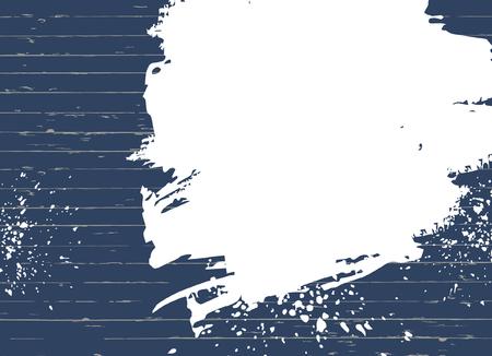 blue wood texture with spots of white paint. Background, place for text. Ilustração