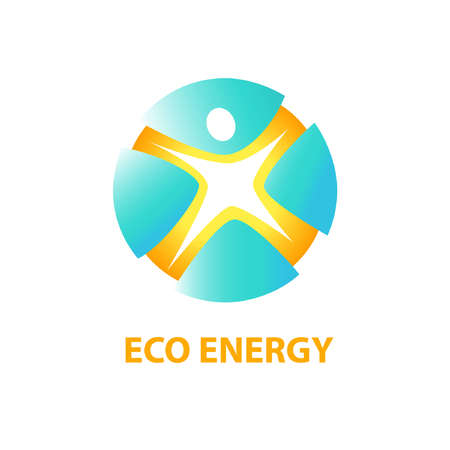 improving: Vector  with symbols of eco energy from natural resources and sun energy. Saving energy resources. Improving energy efficiency.