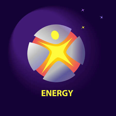 improving: Vector icon with symbols of natural resources and sun energy. Saving energy resources. Improving energy efficiency.