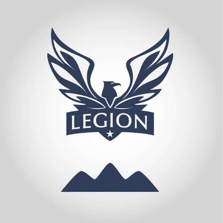 legion: Vector  for Legion.  with eagle. Sport team  .