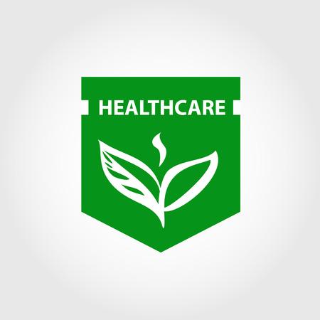 elemento de diseño vectorial, logotipo para el cuidado de la salud, salón de belleza, boutique de cosmética. La terapia del eco verde natural. La belleza y la salud.