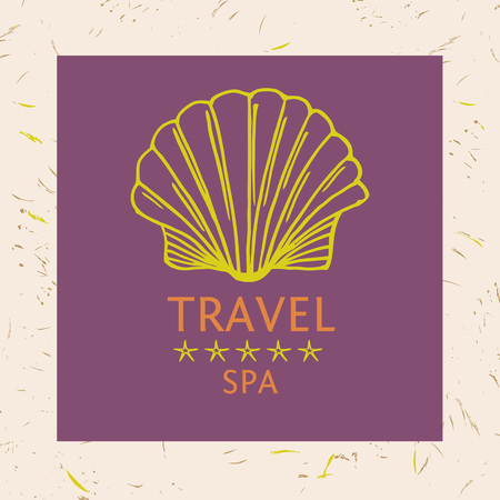 tropics: Design of cruise travel and spa. Hand drawn silhouettes. Beach vacation in the tropics. Illustration