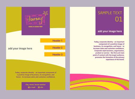 operators: Illustration flyer for advertising tourism companies, tour operators.