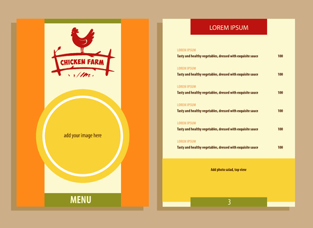 fowls: Vector . Hand drawn hen. Menu for home business with products from chicken meat and eggs.  Poultry Farm.