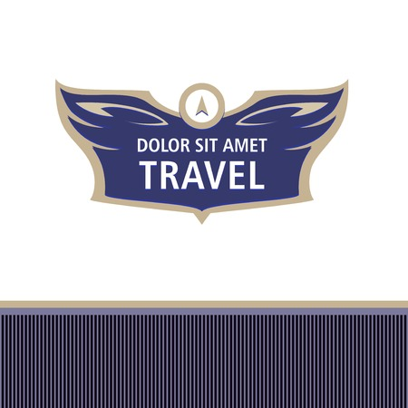 professionalism: template corporate identity, banner for travel agency, air carrier. Demontstration of reliability, professionalism. Status, elegentny style.