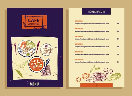 bistro cafe: Element of design template corporate identity, banner, poster, flyer and icon for bistro, cafe and restaurant. Cafe with ecology organic food.