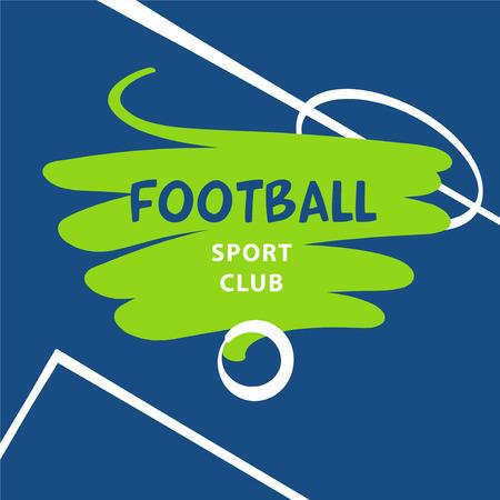 Hand-drawn sketch image template emblem, sign, logo, logotype for football, soccer club, team