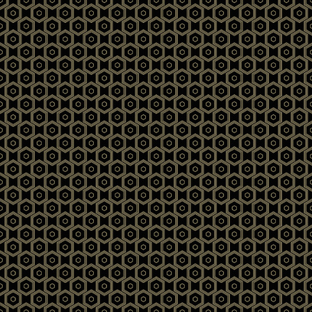 Geometric figure line abstract seamless pattern. Illustration