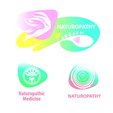 Naturopathic medicine. Silhouette woman with butterfly wings.